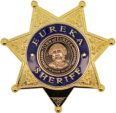 Fictional Eureka Town Sheriff Star Badge