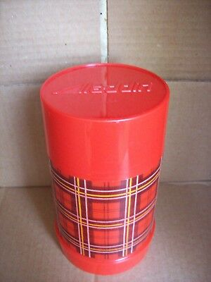 Vintage Wide Mouth Pint Red Plaid Thermos by Aladdin