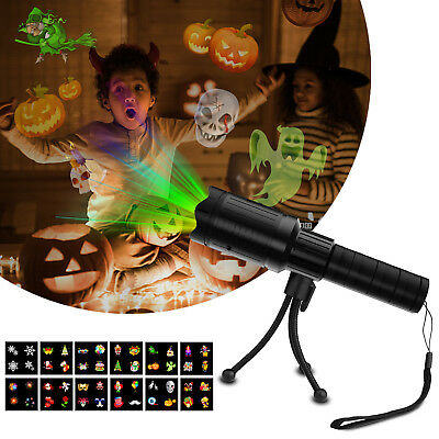 12 Pattern LED Projector Light Flashlight Moving Xmas Halloween Party Kid Gifts