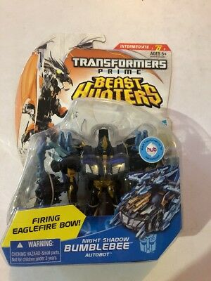 Transformers Prime Beast Hunters Night Shadow Bumblebee Deluxe
