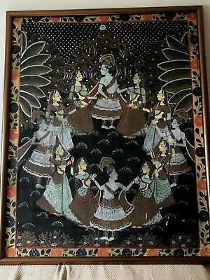 Pichwai Cloth Painting 36 X 44 Amazinly Detailed Vintage or Antique.