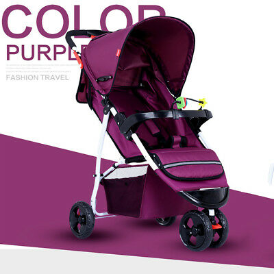 Foldable Pram Pushchair Lightweight Foldable Baby Stroller Buggy Carriage Car UK