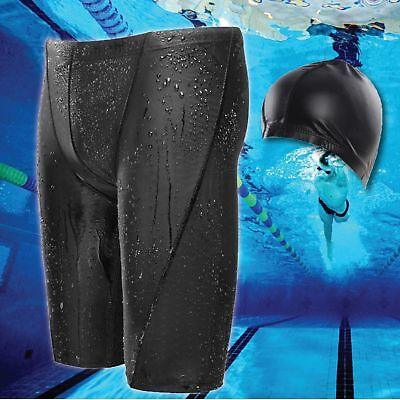 YUKE Men's Boys Swimming Swim Trunks Boxer Shorts Jammer Sharkskin Racing Pants