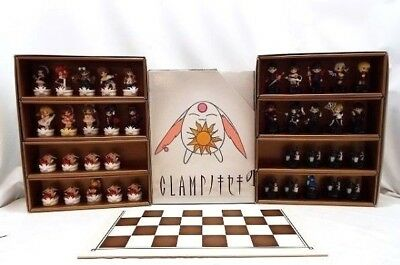 Clamp no Kiseki Figure Chess Pieces Set 38 Complete With Box Board JAPAN EMS
