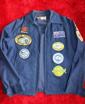 Vintage sports fishing patches jacket
