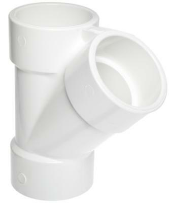 "Spears 475 Series PVC Pipe Fitting, Wye, Schedule 40, 3/4"" Socket"