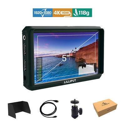 Lilliput A5 5-inch 1920x1200 DSLR Mirrorless Camera Field Monitor 4K HDMI input
