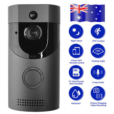 AU Wireless Doorbell Camera WiFi Remote Video Door Intercom IR Security Bell