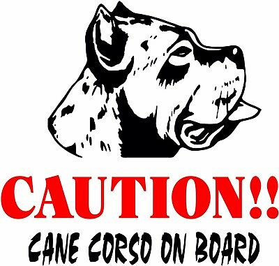 CAUTION! CANE CORSO on Board dog window vinyl decal Stickers Puppy Paw K9