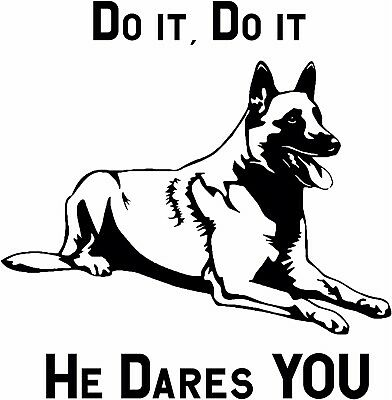 K9 Do Not Pet Dog Belgian Malinois Window Vinyl Decal Stickers Puppy