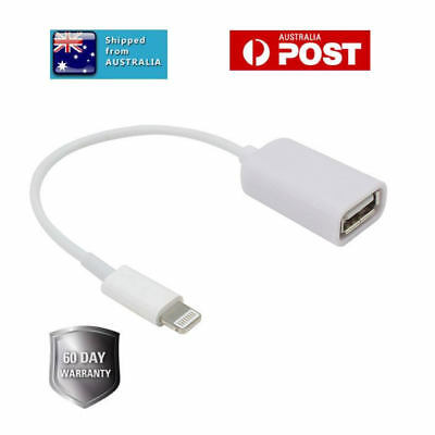 iOS11 Lightning to USB Camera Adapter OTG Cable for Genuine Apple iPad iPhone