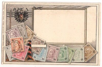 Ottmar Zierhar,  Munchen stamps of Austria on postcard No 6 embossed (Swifts)