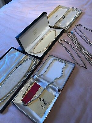 Job Lot Of Vintage Pearls x 7 Necklaces