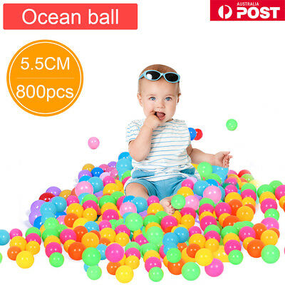 50-800x Colorful Soft Plastic Ocean Water Pool Ball Funny Baby Kid Swim Pit Toy