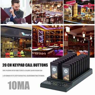 20 Restaurant Coaster Pager Guest Call Wireless Paging Queuing Calling System RY