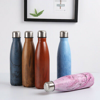 500ML Water Bottle Vacuum Insulated Flask Thermal Sport Chilly Hot Cold Cup