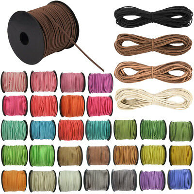 5/100Yards Korea Faux Suede Cord Flat Leather Cord DIY Rope Jewelry Making 3mm