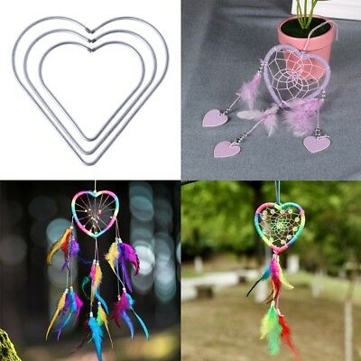 Metal Heart Dream Catcher Dreamcatcher Ring Macrame Craft Hoop DIY Accessories