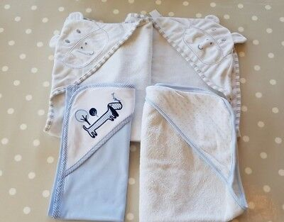 4 x Baby Hooded Towels