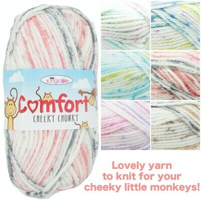King Cole COMFORT Cheeky Chunky Soft Acrylic Mix Knitting Crochet Yarn Wool 100g