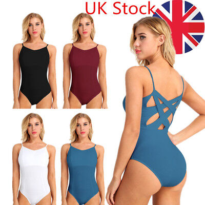 Women Cotton Ballet Dance Leotard Gymnastics Stage Cosumes built-in shelf bra