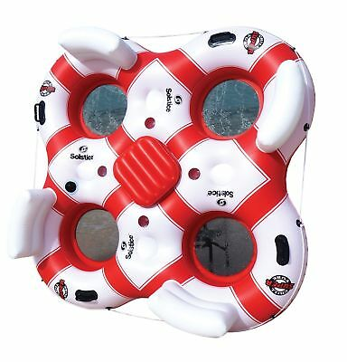 Solstice Super Chill 4 Person Island, White/Red