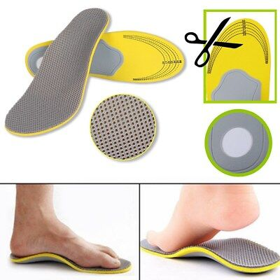1Pair Orthotic Flat Feet Foot High Arch Heel Support Shoe Inserts Insoles Pad UK