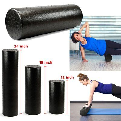 Extra Firm High Density Foam Roller Muscle Back Pain Trigger Yoga Massage 65