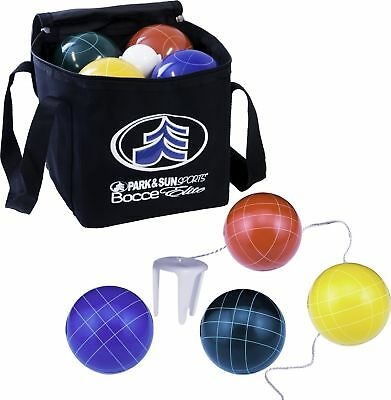 Park & Sun Sports Bocce Ball Set with Deluxe Carrying Bag: Tournament Elite, ...
