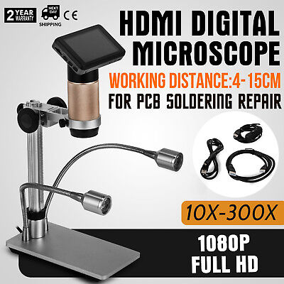 ADSM201 Microscope For PCB Repair Long Working Distance Metal Stand 32G Storage