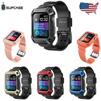 For Apple Watch 4 Case 40mm 44mm SUPCASE Protective Case w/ Strap Bands 2018 NEW