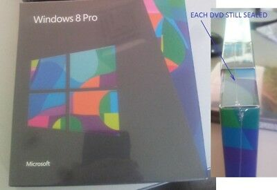 Reduced!! Microsoft Windows 8 Pro Dvd Set - Still Sealed In Shrink Wrap!!