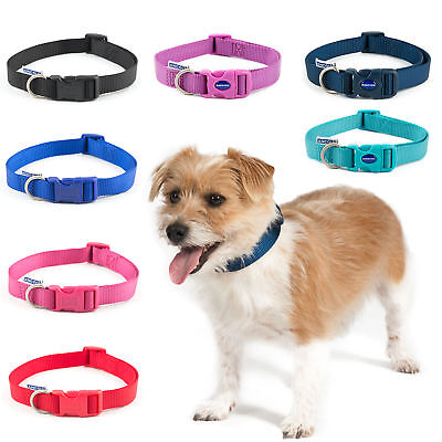 Ancol Dog Puppy Collars Nylon Adjustable Comfortable Easy Fit 7 Colours 3 Sizes
