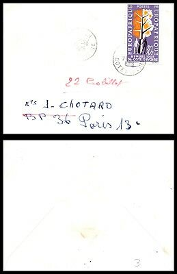 Goldpath: Ivory Coast Airmail Cover 1965. _CV14_P8