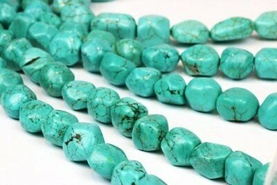 Green Natural Turquoise Magnesite Loose Lot Gemstone Nugget Beads Jewelry Making