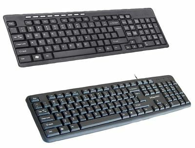 Wired Wireless Keyboard Optical Mouse Waterproof Full Size MAC PC Home Office