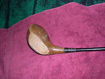 Spalding, Bobby Jones Jr. A35 Old, Very Rare, Signature Vintage Persimmon 2-Wood