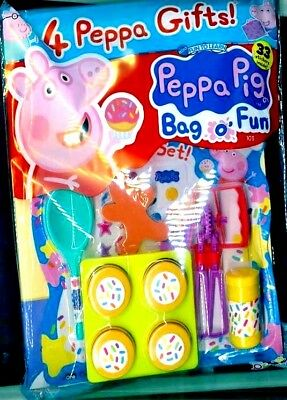 PEPPA PIG BAG OF FUN MAGAZINE ISSUE #103 ~ NEW WITH 4 x PEPPA GIFTS ~