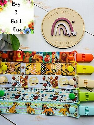 LION KING DISNEY Baby Boy/Girl Dummy Clip/Pacifier Chain/Binky Band/Soother