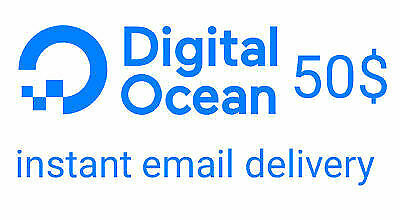 Digital Ocean Coupon $50 - CHEAPEST - INSTALL DELIVERY !!!
