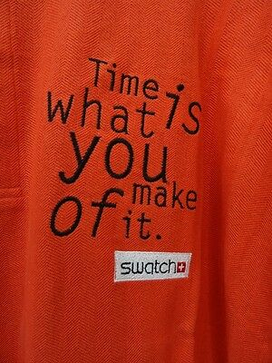 Swatch Polo Shirt orange XL Time is what you make of it 1998 1999 promotion item