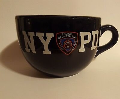 NYPD city of New York Police Department Coffee Mug navy blue