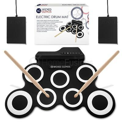 New Electric Drum 7pad Portable With Stick Drum Pad Kits Foldable Musical Gear