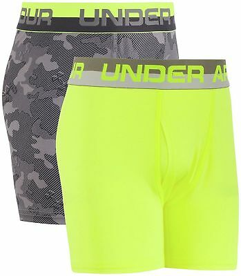 UNDER ARMOUR Boy Original- Boxer jock 2Pack Underwear Boxer Brief Size YSM