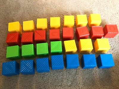 Tupperware Busy Blocks Play Build Snap Together Child Toys