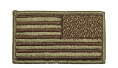 U.S. Air Force Regulation OCP Spice Brown Flag Patch reversed with hook (ea)