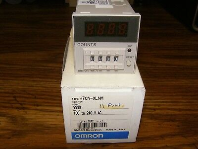 New - Omron H7CN-XLNM digital Counter Time Relay 100-240 volt 11pin  - NIB