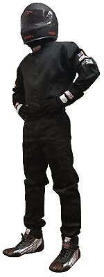 Drag Racing Fire Suit Sfi 1 Race Suit Sfi 3.2A/1 One Piece Suit Black 3X   3Xl