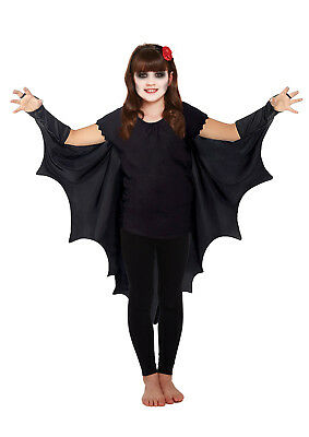 Kids Gothic Vampire Bat Wings Costume Cape Fancy Dress Halloween Outfit Unisex