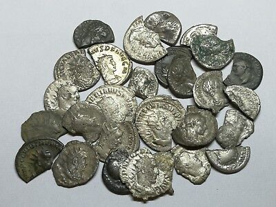Ancient Roman Imperial Damaged Silver Denar Coins LOT - 28 pieces SEE PICTURE!